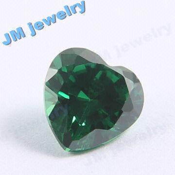 unusual heart emerald shaped ring green engagement