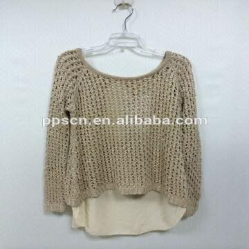 China 2014 new arrival fashion women hot sale wool sweater design for girl,hand  knitted