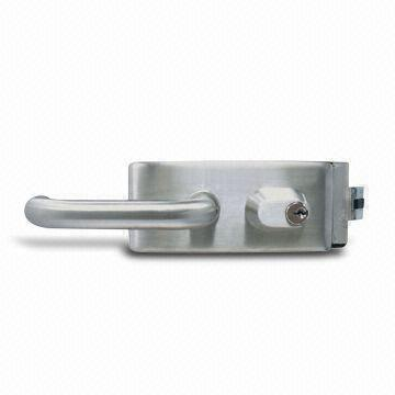 Taiwan Glass Patch Fitting Lock with US Cylinder and Normal Type, Suitable for Glass Door