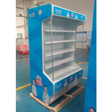China Multi deck night curtain meat packing display open cooler for convenience store