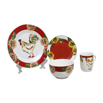 Dinnerware Set China Dinnerware Set  sc 1 st  Global Sources & 16-piece Rooster Toile Dinnerware Set | Global Sources