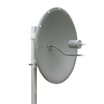China 2 3-2 7GHz Parabolic LTE Antenna, 400MHz Bandwidth