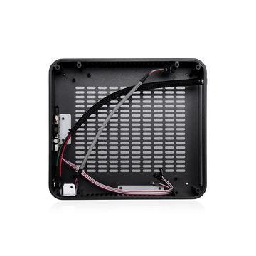 China Realan W-80 Mini Computer Case, Mini-ITX M/B, Black Aluminum, 120 Watts PSU, 12V/5A AC Adapter