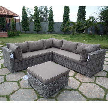 outdoor l shape sofa set global sources. Black Bedroom Furniture Sets. Home Design Ideas