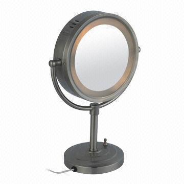 Lighted Makeup Mirror Bronze Home Decor