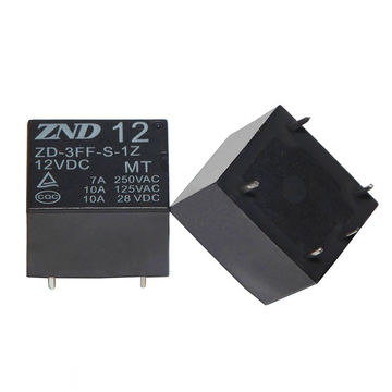 China 5-pin Copper Contact 7A 12V Power Relay Miniature Size Electromagnetic Relay