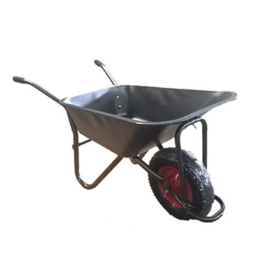 China Metal Tray Garden Wheelbarrow Used For Agriculture With Pneumatic  Wheel Steel Rim ...