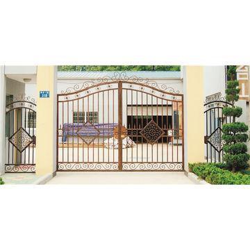 ... China Good Quality Luxurious Exterior Security Decorative Wrought Iron  Door ...