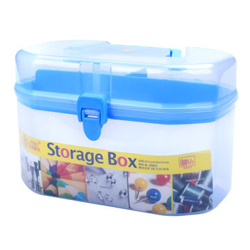 Plastic Octagonal shaped Storage Container with Foldable Carrying
