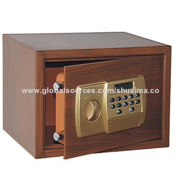 China Wood-grain Safes, Security and Power Status Shown in Series of LED Displays