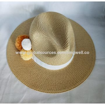 0924a52788397 ... China Custom Summer Sun Hat Trilby   Fedora Cap Men Women Ladies Paper  Straw ...