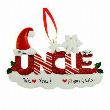 Resin Ornaments, Uncle Ornament Personalized Christmas Decoration ...