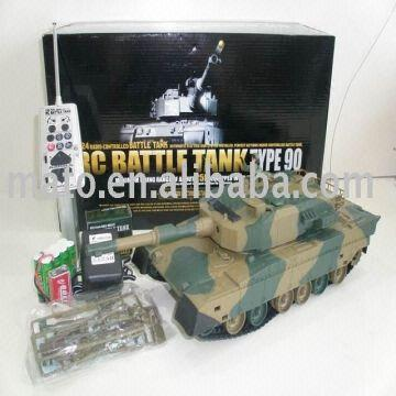 1:24 r/c tank(Japan style T90) 1)no smoke 2)with BB shooting