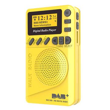 China Pocket size DAB/FM Radio,MP3 Player, big LCD display