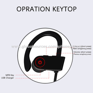 China Phone accessories mobile Bluetooth headset, earphones, sports wireless mobile headset