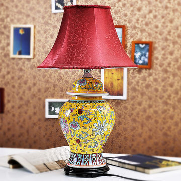 Chinese famille rose emperor yellow giner jar table lamp global china chinese famille rose emperor yellow giner jar table lamp aloadofball Image collections