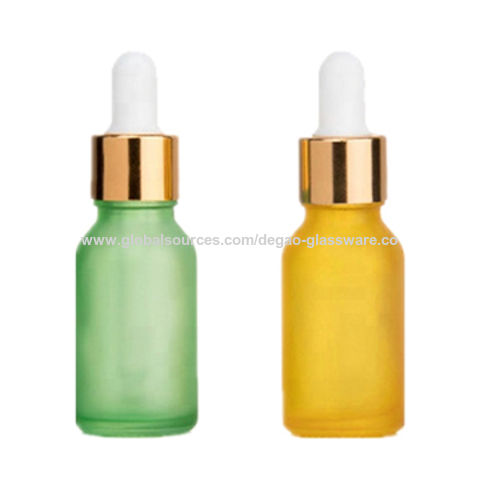 85e63e0b3021 China Glass empty colorful frosted essential oil bottles/ glass ...