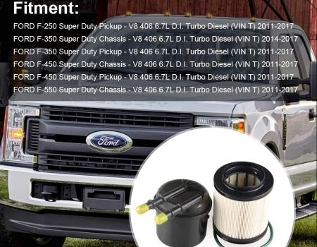 fuel filters for 2011-16 f250 f350 f450 super duty 6 7 liters power stroke  fd4615 free shipping worldwide  one year warranty  condition: 100% brand new
