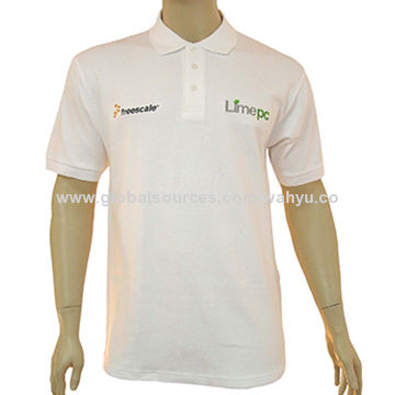 8763789a5 China 100% Cotton Golf Polo Shirt with Contrasting Trim Inside Collar and  Cuff, for