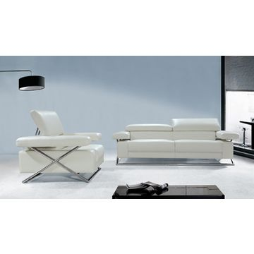China Sofas With Top Grain Leather And Full Pvc High Density Foam