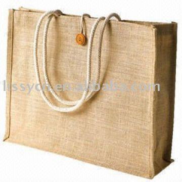 jute shopping bag material:100% natural jute fabric 40(L)*32(H)*12 ...