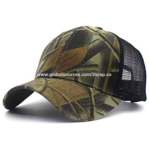 Men Women Camouflage Military Sports Baseball Cap Flat Snapback Trucker Hat
