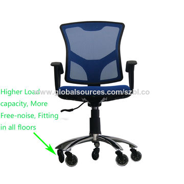 China Furniture rollerblade transparent 3 inch locking rubber office chair caster