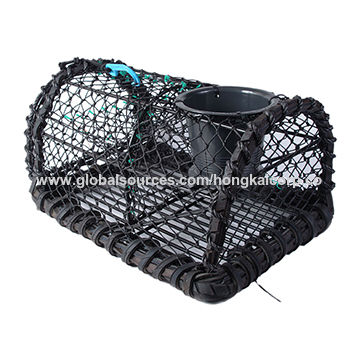 """Creel Lobster Pots 24"""" X 16"""" Roped And Rubbered Handmade"""