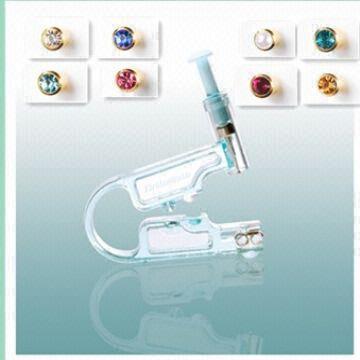 Disposable Ear Piercing Gun With 24k Gold Plate Ear Stud Global