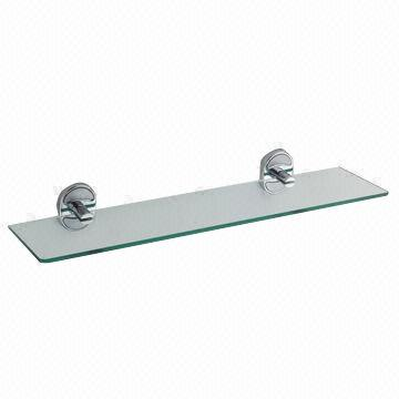China Bathroom Glass Shelves, Made Of Zinc Alloy, Brass Or Stainless Steel