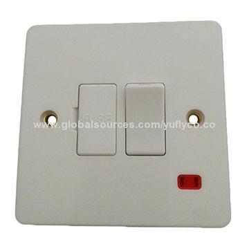 China UK Standard 220V 10A 1 Gang 1 Way/2 Way House Using Electric Wall ...