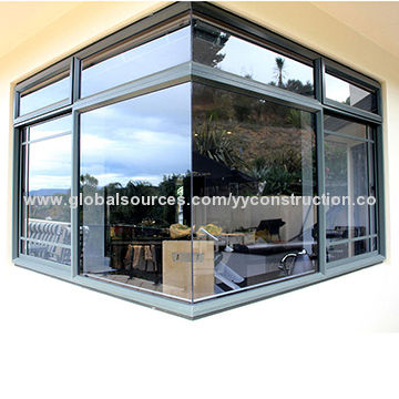 laminated glass windows white china commercial fixed window high quality aluminum laminated glass corner style