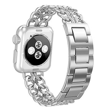 65d8bb634859 China 40mm 44mm Stainless Steel Metal Cowboy Chain Wrist Band for Apple  Watch Series 4 3 ...