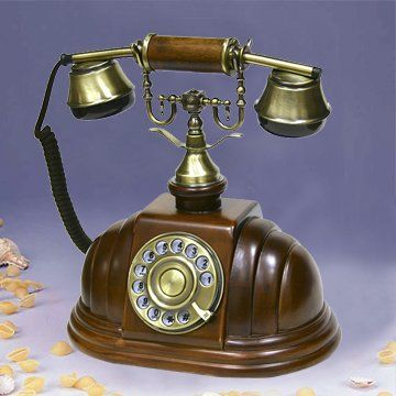Wooden Desk Telephone Rotary Wooden Antique Telephone For Home