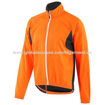China Reflective yellow cycling wear, mesh lining bicycle windproof anti-sweat rainproof
