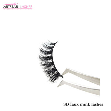 319c265233d ... China 2019 Qingdao Lashes Factory Supply 3D Faux Mink Eyelash,100%  Handmade And Best ...