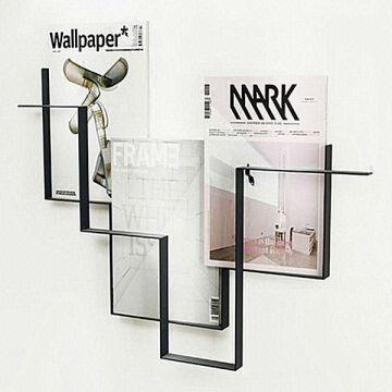 wall mount magazine rack global sources. Black Bedroom Furniture Sets. Home Design Ideas