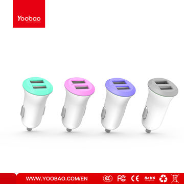 2017 promotional portable dual USB car charger for android