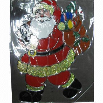 Christmas gel jelly window sticker china christmas gel jelly window sticker