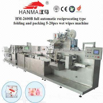 HM-2600B high speed automatic baby wet wipes manufacturing machine