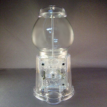 Taiwan Translucent Acrylic Gumball Machine, Available in Assorted Colors