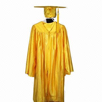 df49b4aa0e3 China Kindergarten Graduation Cap Gown in Gold