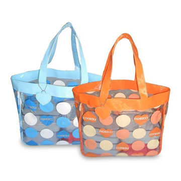 China Clear Vinyl Beach Bags with Full Big Dot Prints, Colored ...