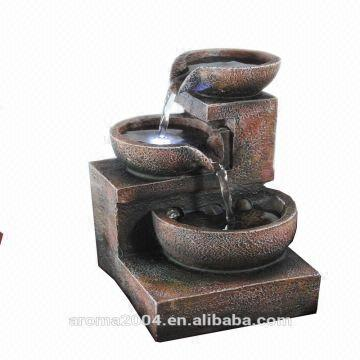 China Battery Operated Polyresin Indoor Water Fountain 10 5x9 5x16cm Either