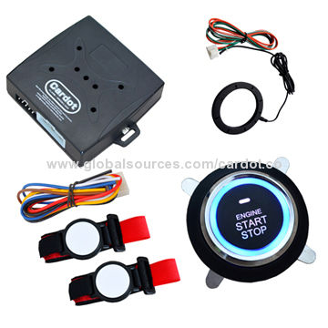 RFID car alarm system with 2pcs chip wrist band and slim