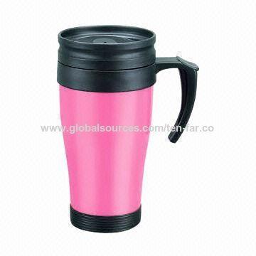 China Plastic Travel Coffee Mugs W Handle
