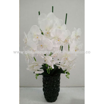 China artificial silk flowers from shenzhen wholesaler shenzhen home china artificial silk flowers pink peony and grass arrangement in blue silver vase mightylinksfo
