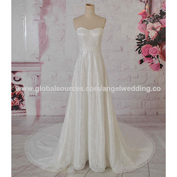 Guangzhou wedding dress, A-line style, fashion design, french lace ...