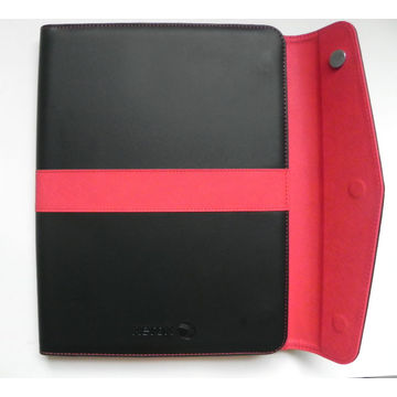 China Synthetic leather portfolio, made of PU/PVC leather