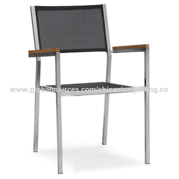 China Stainless steel chair with mesh